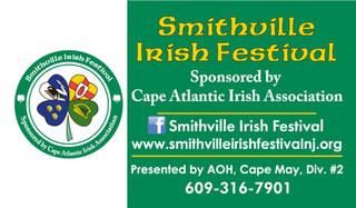 Smithville Irish Festival Business Cards