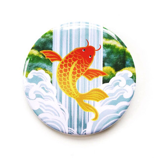 Koi Fish Button-Original Illustration