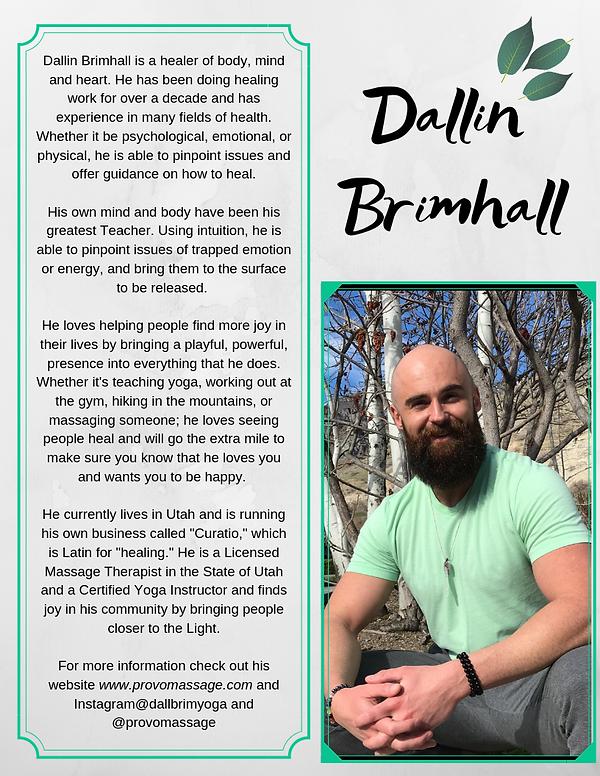 Add a suDallin Brimhall is a healer of b