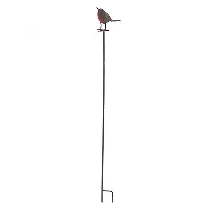 Tin Robin on Stake - Garden Bird Ornament