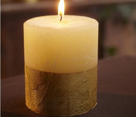 Inspiritus Scented Gold Dipped Pillar - St Eval