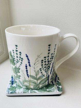 Garden Herb Bone China Mug - Gisela Graham