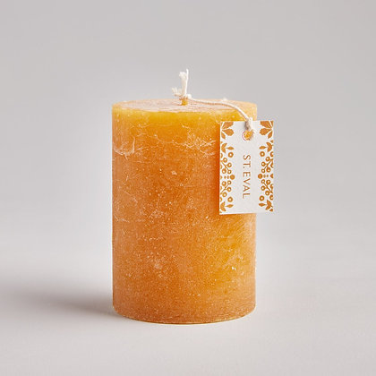 """Amber Folk 3""""x4"""" Scented Pillar Candle - St Eval"""