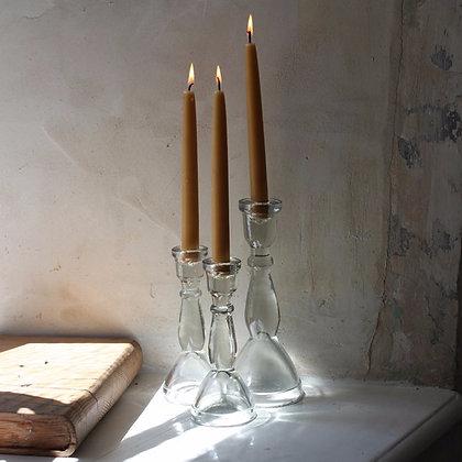 Lanta Glass Candle Stick - Nkuku