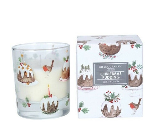 Christmas Boxed Scented Candle Plum Pudding (Small) - Gisela Graham