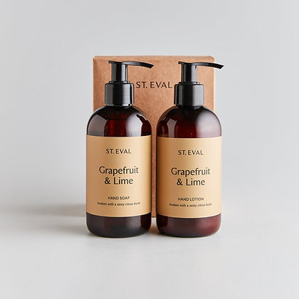 Hand Wash &  Lotion Boxed Gift Set - Grapefruit & Lime - St Eval