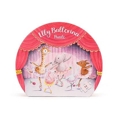 Elly Elephant Ballerina Jigsaw Puzzle - Jellycat