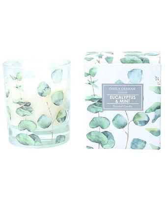 Boxed Scented Candle Eucalyptus & Mint (Large) - Gisela Graham