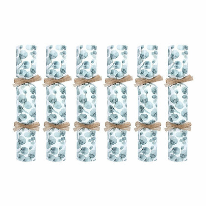 Eucalyptus Luxury Christmas Crackers - Box of 6 - Gisela Graham