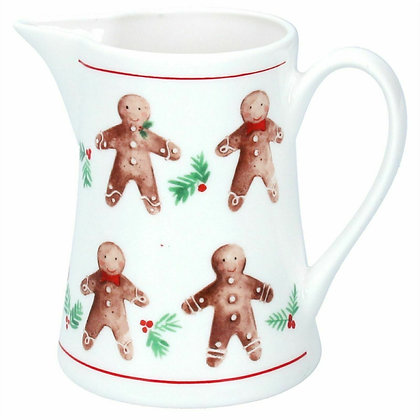 Bone China gingerbread Christmas Jug (medium) - Gisela Graham
