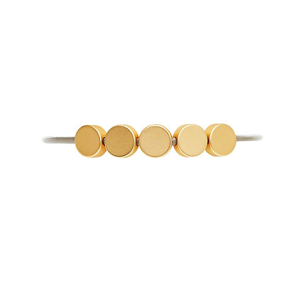 Dansk Copenhagen Vanity Dot Gold Disc & Leather Bracelet