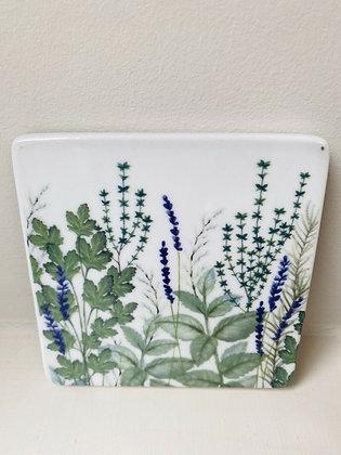 Garden Herb Ceramic Coaster - Gisela Graham