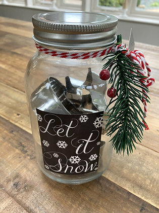6 Christmas Shape Cookie Cutters in Jar - Gisela Graham