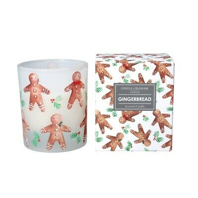 Christmas Boxed Scented Candle Gingerbread Men (Large) - Gisela Graham