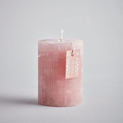 """Rhubarb Folk 3""""x4"""" Scented Pillar Candle - St Eval"""