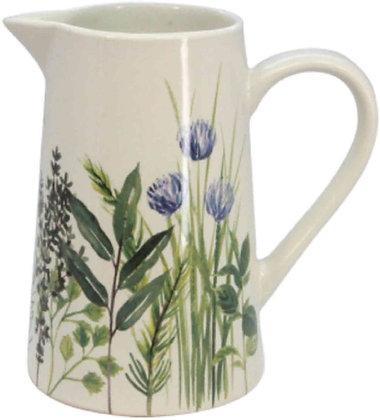 Garden Herb Bone China Jug (Medium) - Gisela Graham