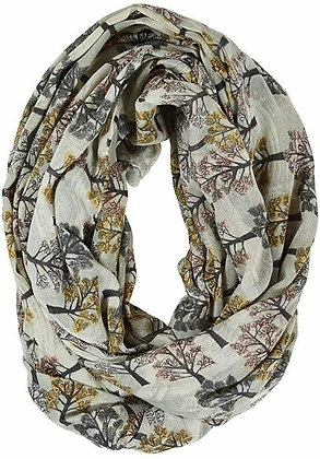 Woodland Tree Print Snood Scarf - Willow - Quintessential Cambridge