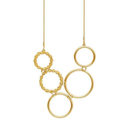 Dansk Copenhagen Cliff Gold Necklace