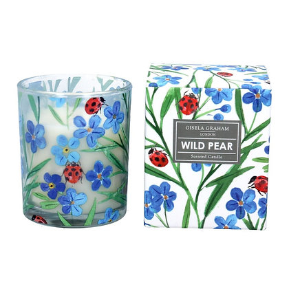 Scented Candle Wild Pear / Forget me nots  - Gisela Graham