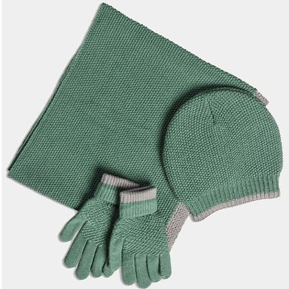 Soft Moss Stitch Knitted Hat - Green - Quintessential Cambridge