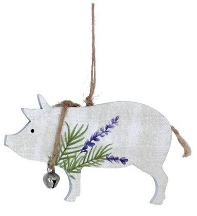 Set 4 Wooden Farm Animal Decorations - Gisela Graham
