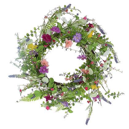 Spring Meadow Wild Flower Wreath - Gisela Graham