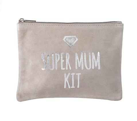 Super Mum Kit - Suede Cosmetic Bag - Parlane