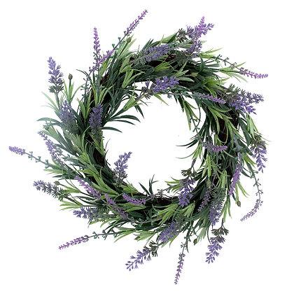 Faux Lavender Wreath (2 Sizes) - Gisela Graham