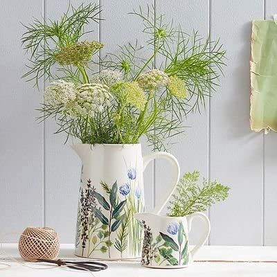 Garden Herb Bone China Jug (Small) - Gisela Graham
