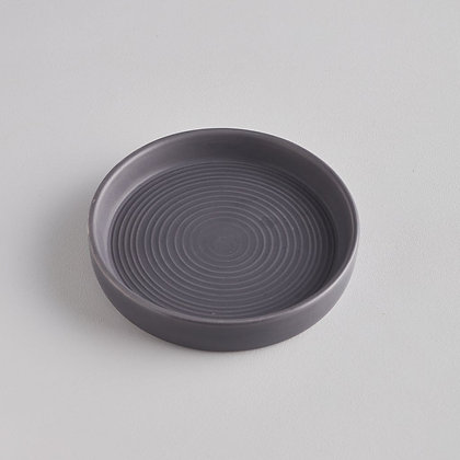 Small Ceramic Candle Plate - Dark Grey - St Eval