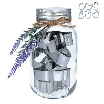 Easter Cookie Cutter Jar -  Set of 6 - Gisela Graham