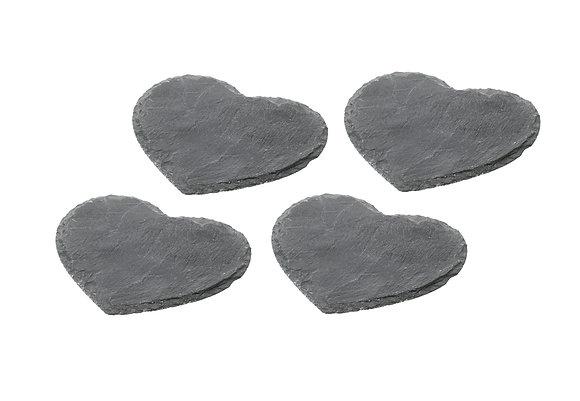 Parlane Heart Slate Coasters