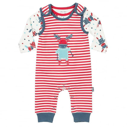 Moose Dungaree Set - Organic Cotton - Kite Clothing
