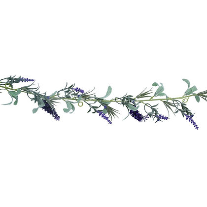 Faux Lavender Garland - Gisela Graham