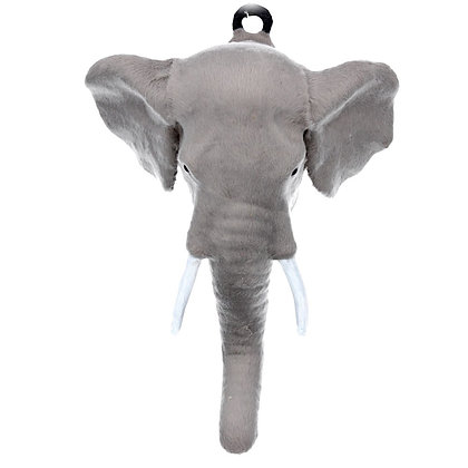 Elephant Faux Fur Animal Head Wall Plaque - Gisela Graham