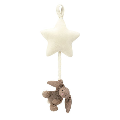 Bashful Beige Bunny Star Musical Pull - Jellycat