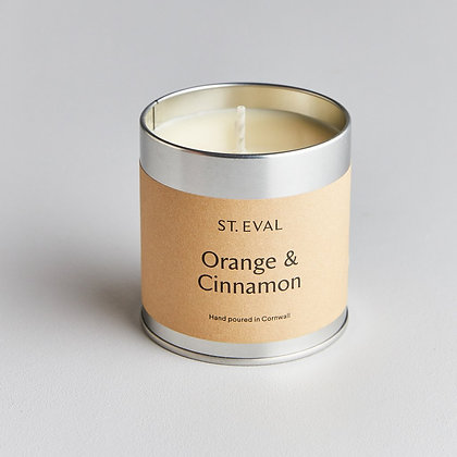 Orange & Cinnamon Scented Candle Tin - St Eval