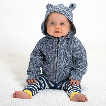 Kite Clothing Cable Knit Hood Jacket - Animal Ears -100% cotton