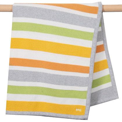 Soft Stripe Organic Cotton Knit Blanket - Kite Clothing