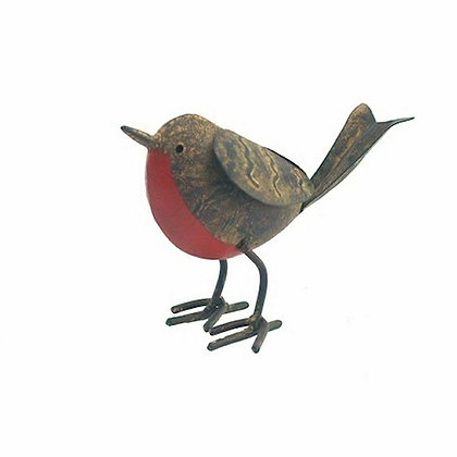 Tin Robin  - Garden Bird Ornament - Ascalon