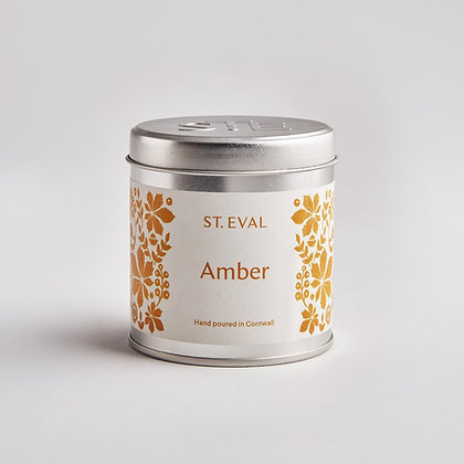 Amber Folk Scented Tin Candle - St Eval