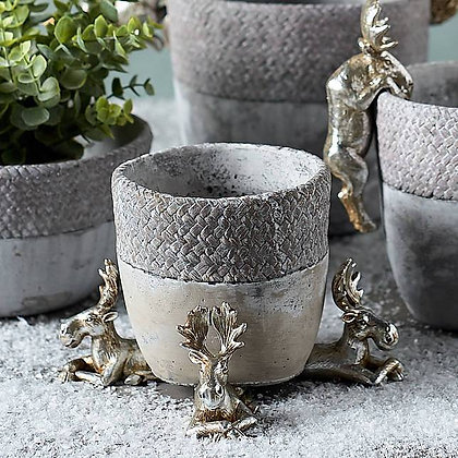 Trio of Silver Moose Pot Risers - Parlane International