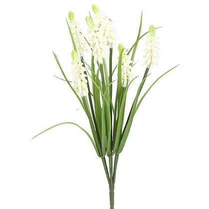 Bunch of Faux White Muscari - Gisela Graham