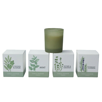 Set of 4 Mini Herb Scented Candles in Pot - Gisela Graham