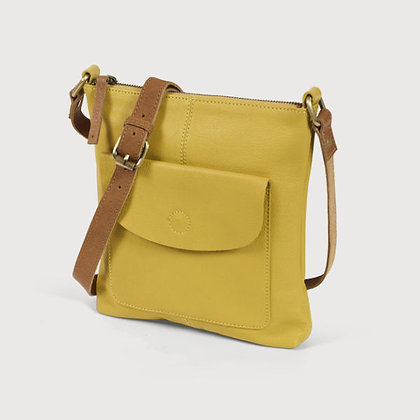 Mustard Yellow Leather Cross Body Bag - Quintessential Cambridge