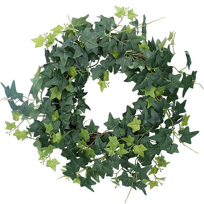 Artificial Green English Ivy Wreath - Gisela Graham