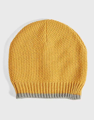 Soft Moss Stitch Knitted Hat - Mustard Yellow - Quintessential Cambridge