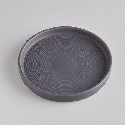 Large Ceramic Candle Plate - Dark Grey - St Eval