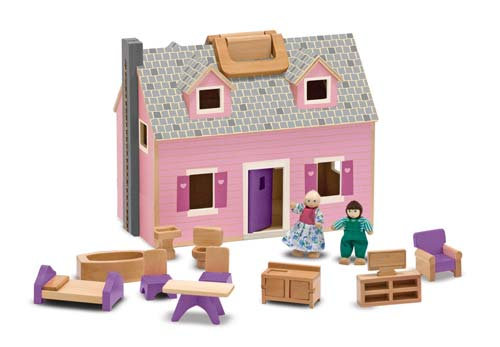 Fold and Go Wooden Doll's House