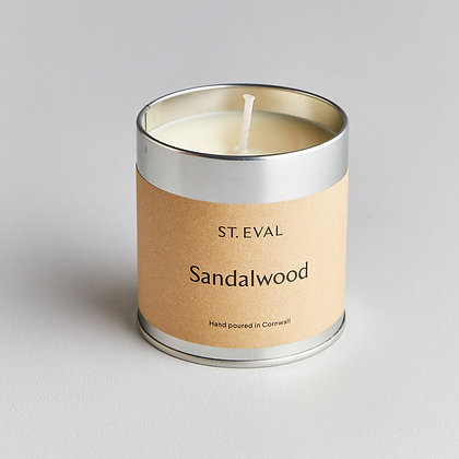 Sandalwood Scented Tin Candle - St Eval
